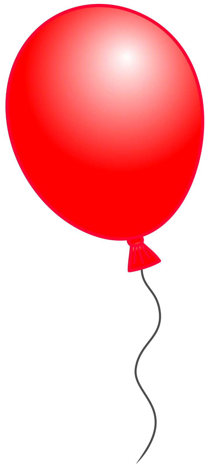svg royalty free Red Balloon Bouquet Clipart