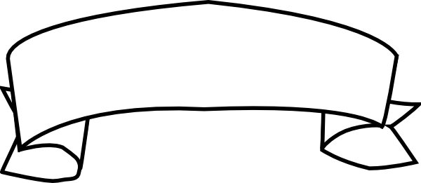 png freeuse stock Ribbon Banner Clipart Black And White