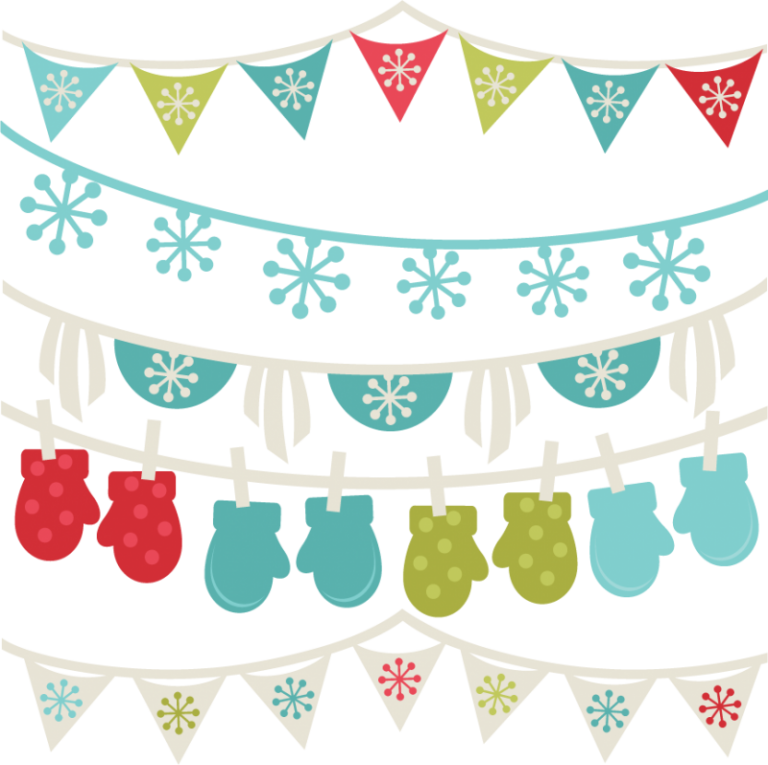 image black and white Clipart banners borders. Free winter svg cut