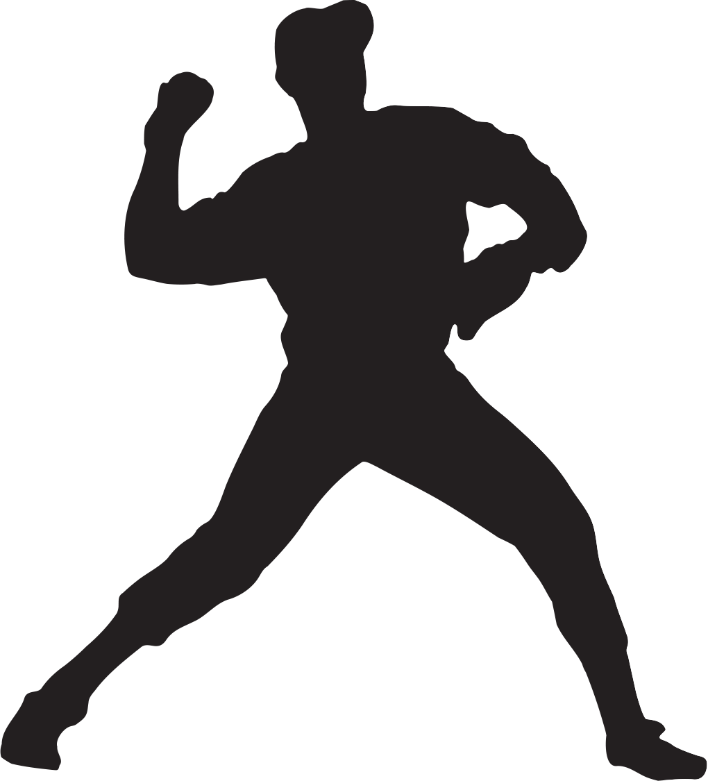 graphic Player clipart at getdrawings. Baseball clip silhouette