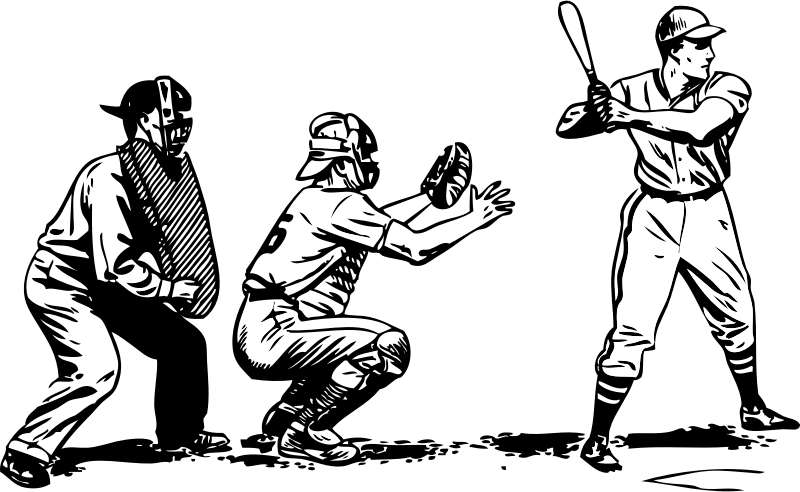 graphic freeuse stock Baseball at bat medium. Umpire clipart cartoon