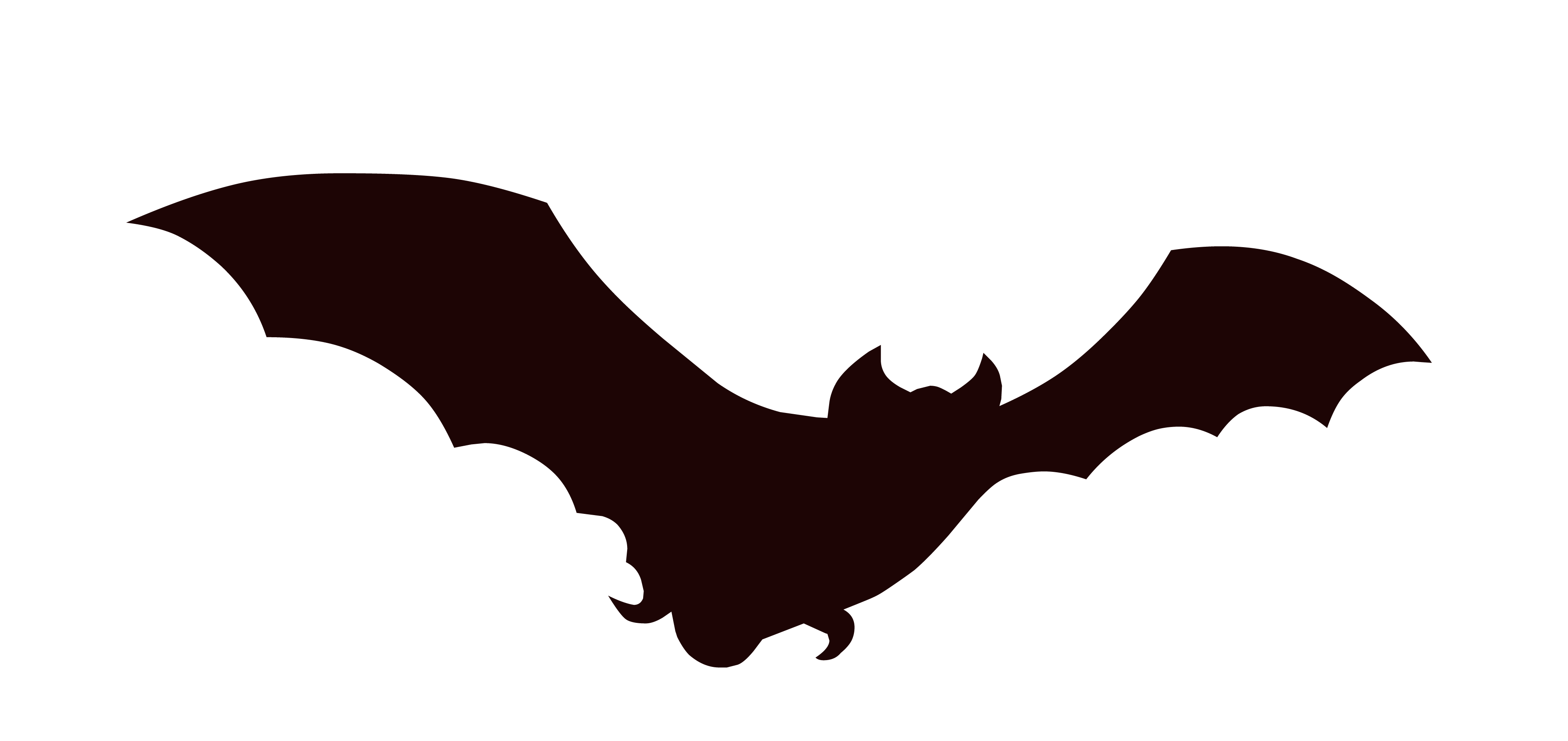 transparent library Bat Silhouette Clip Art at GetDrawings