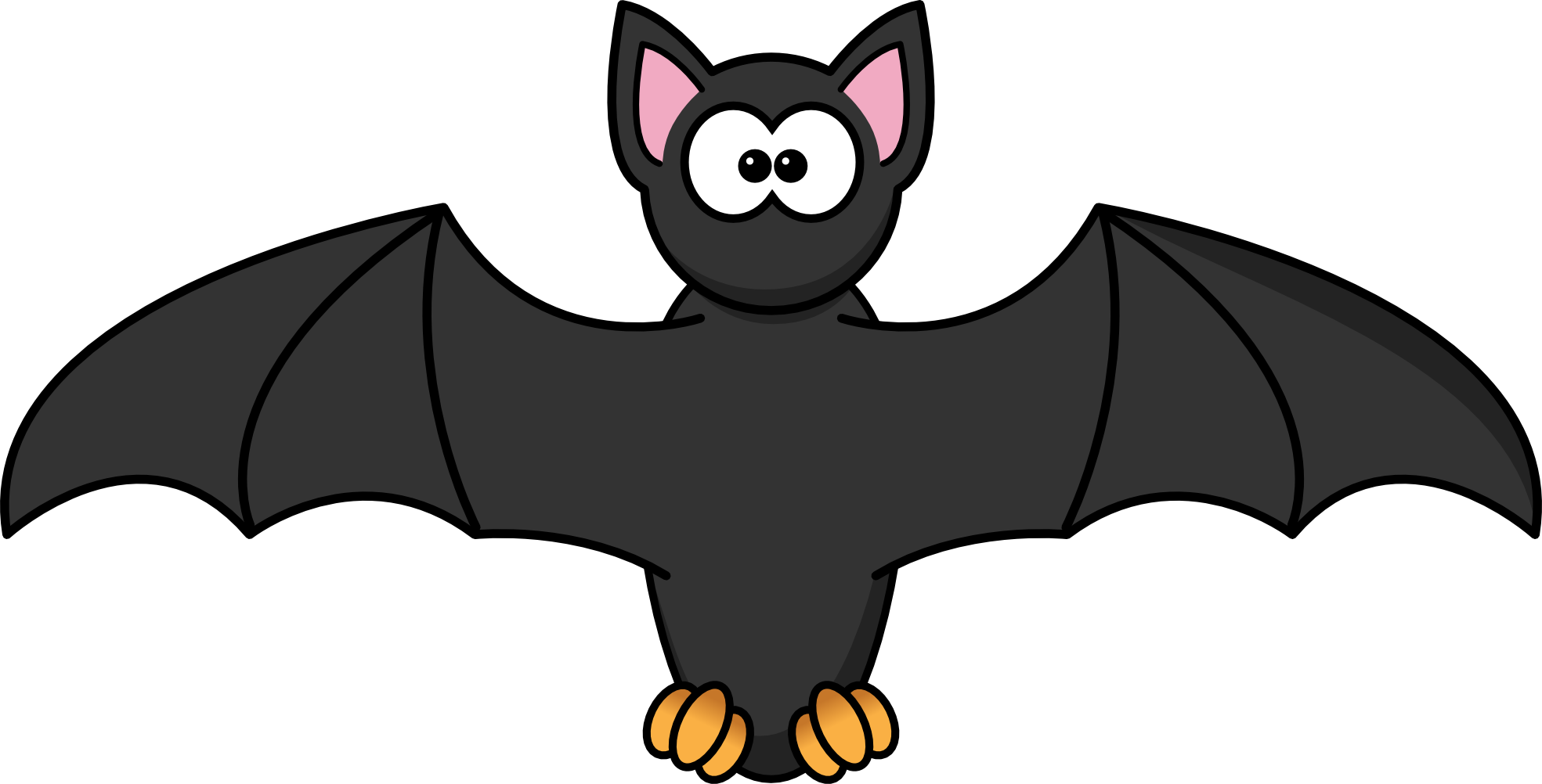 clip free download Bat free images cliparting. Bats clipart orange.