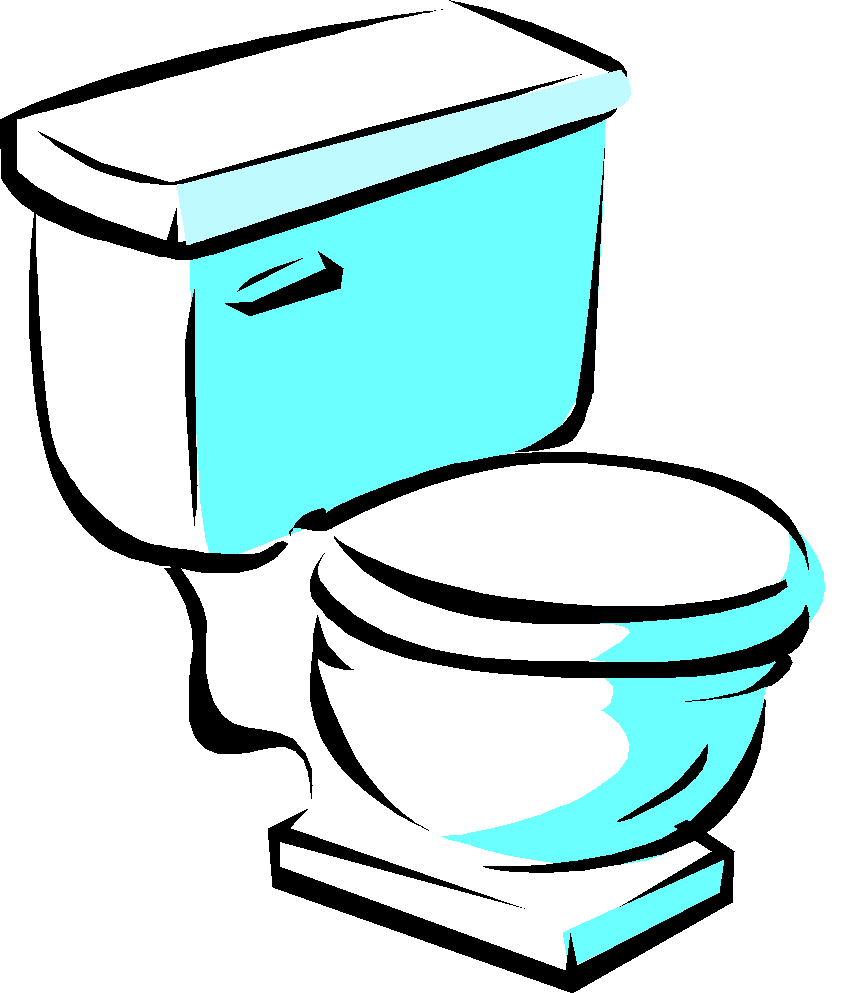 graphic royalty free library Bathroom clipart bathrrom. Drain toilet wheeling it