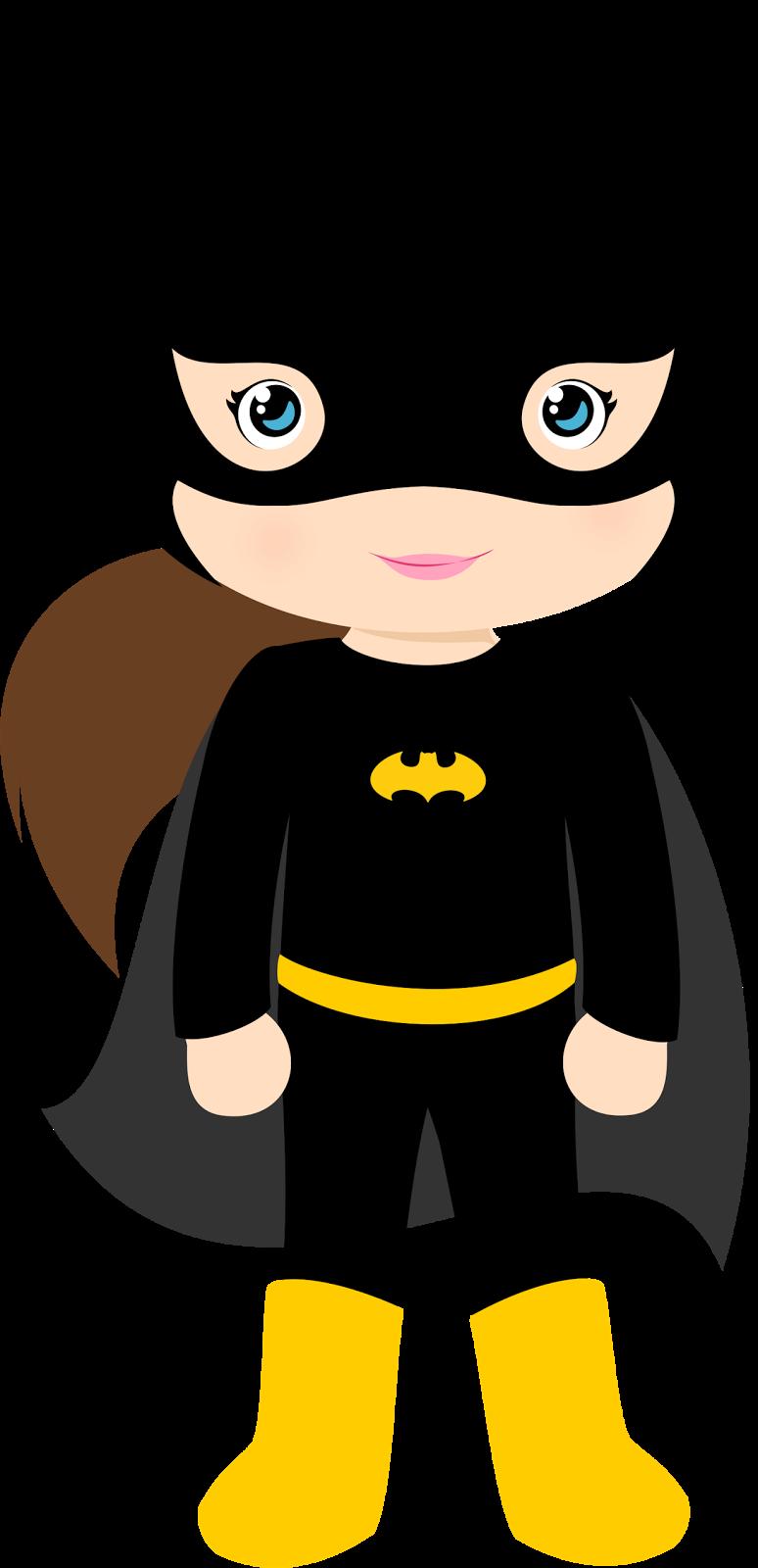 image free stock Characters of Batman Kids Version Clip Art