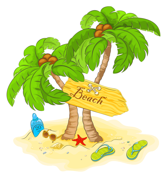 clipart freeuse library Transparent Beach Palm Decor PNG Clipart