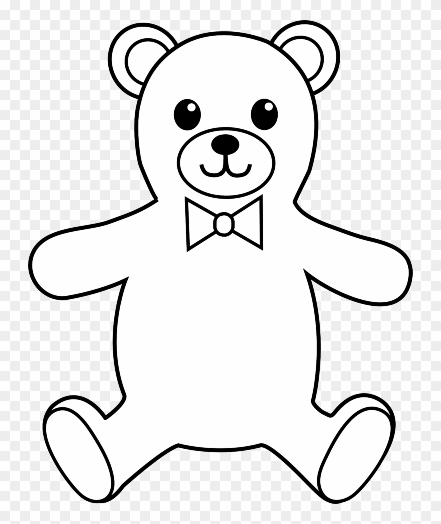 transparent Teddy . Clipart bear black and white