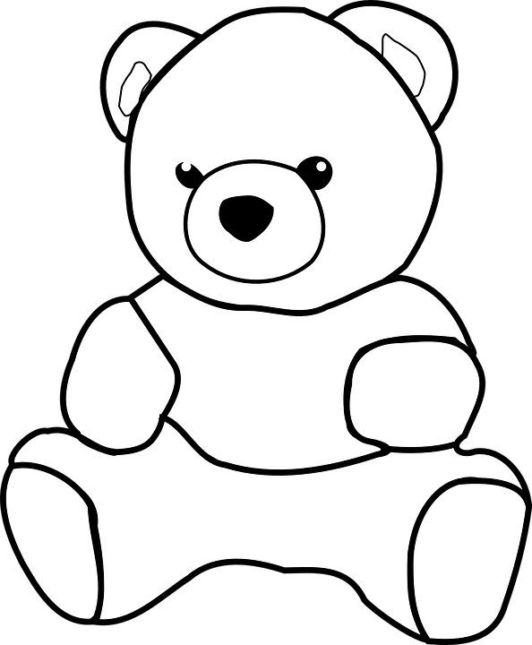 banner library stock PNG Teddy Bear Black And White Transparent Teddy Bear Black And