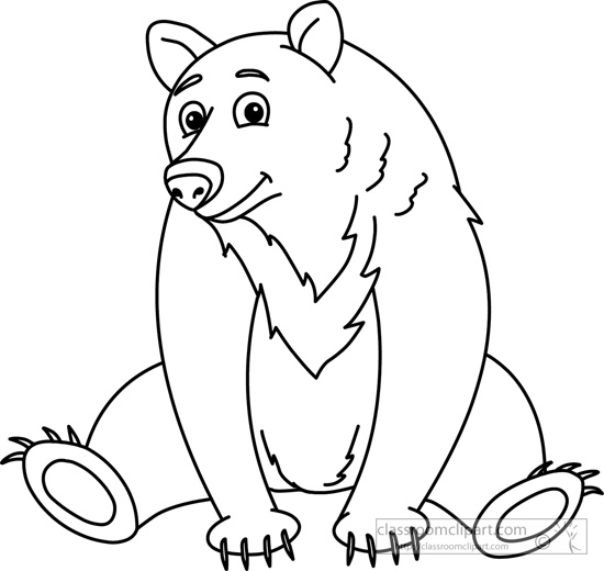 clip transparent  clipartlook. Clipart bear black and white