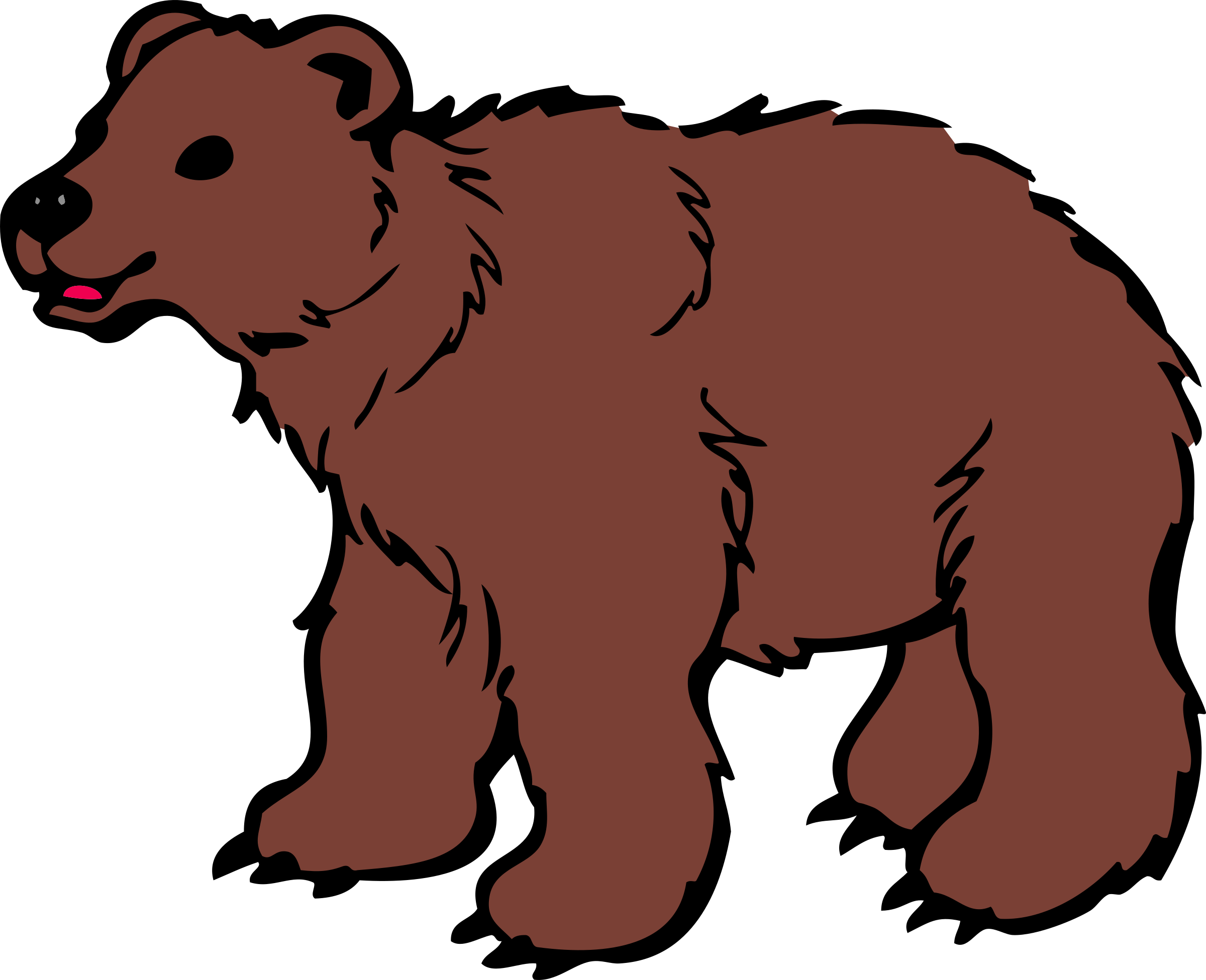 banner free Grizzly clipart bear cali. Scary at getdrawings com
