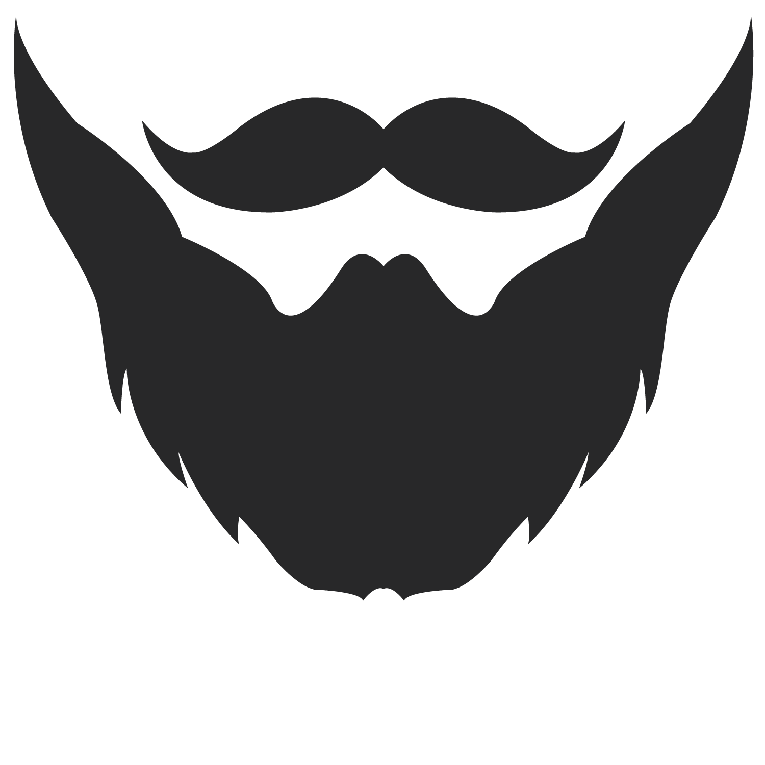 vector transparent Beard clipart