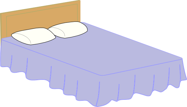 clipart freeuse stock Bed clipart hotel bed. Free cartoon cliparts download.