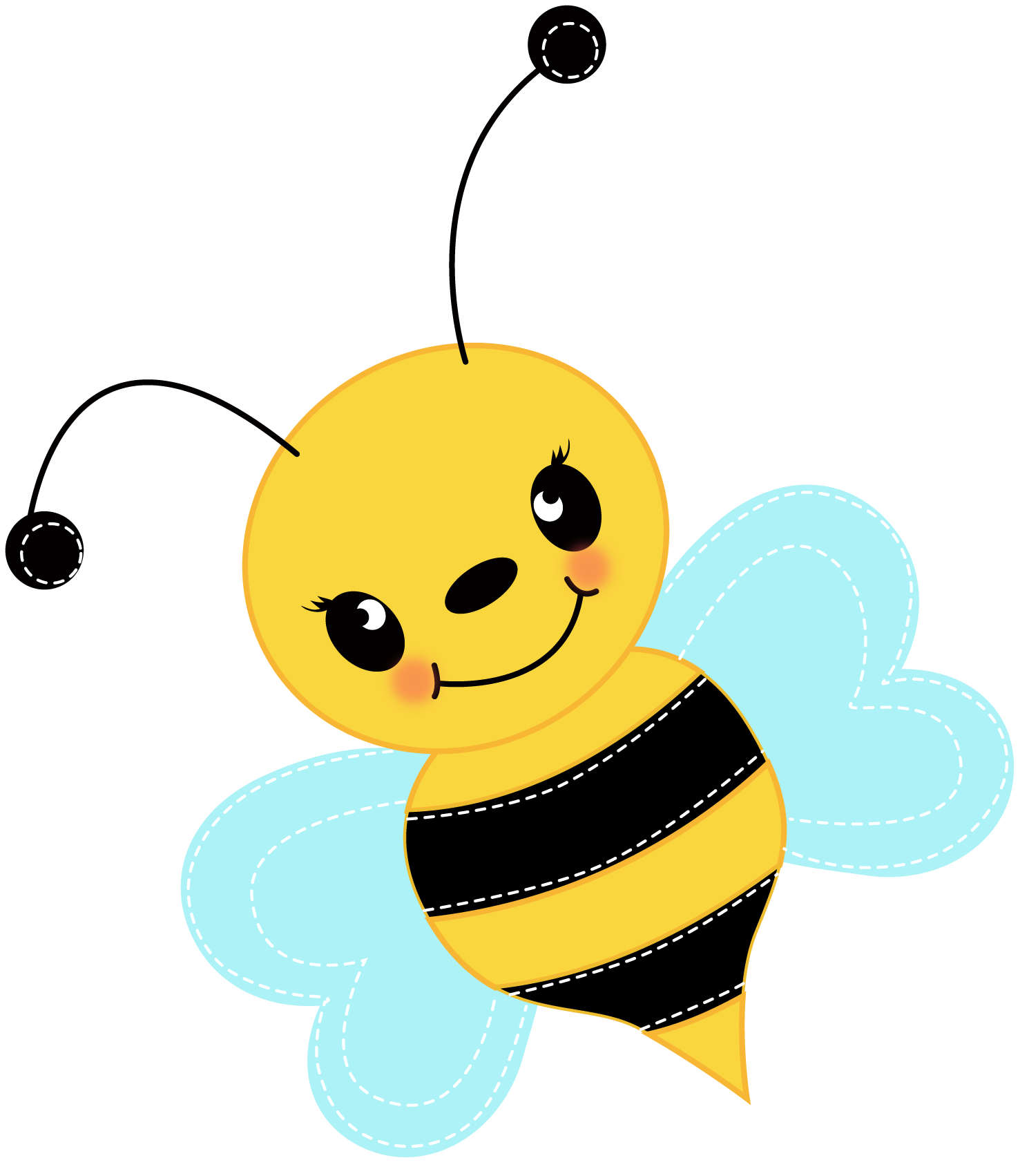 clip art royalty free stock Bumble clipart busy bee. Free cute clip art.
