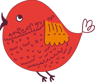 png freeuse Cute birds clipart. Red