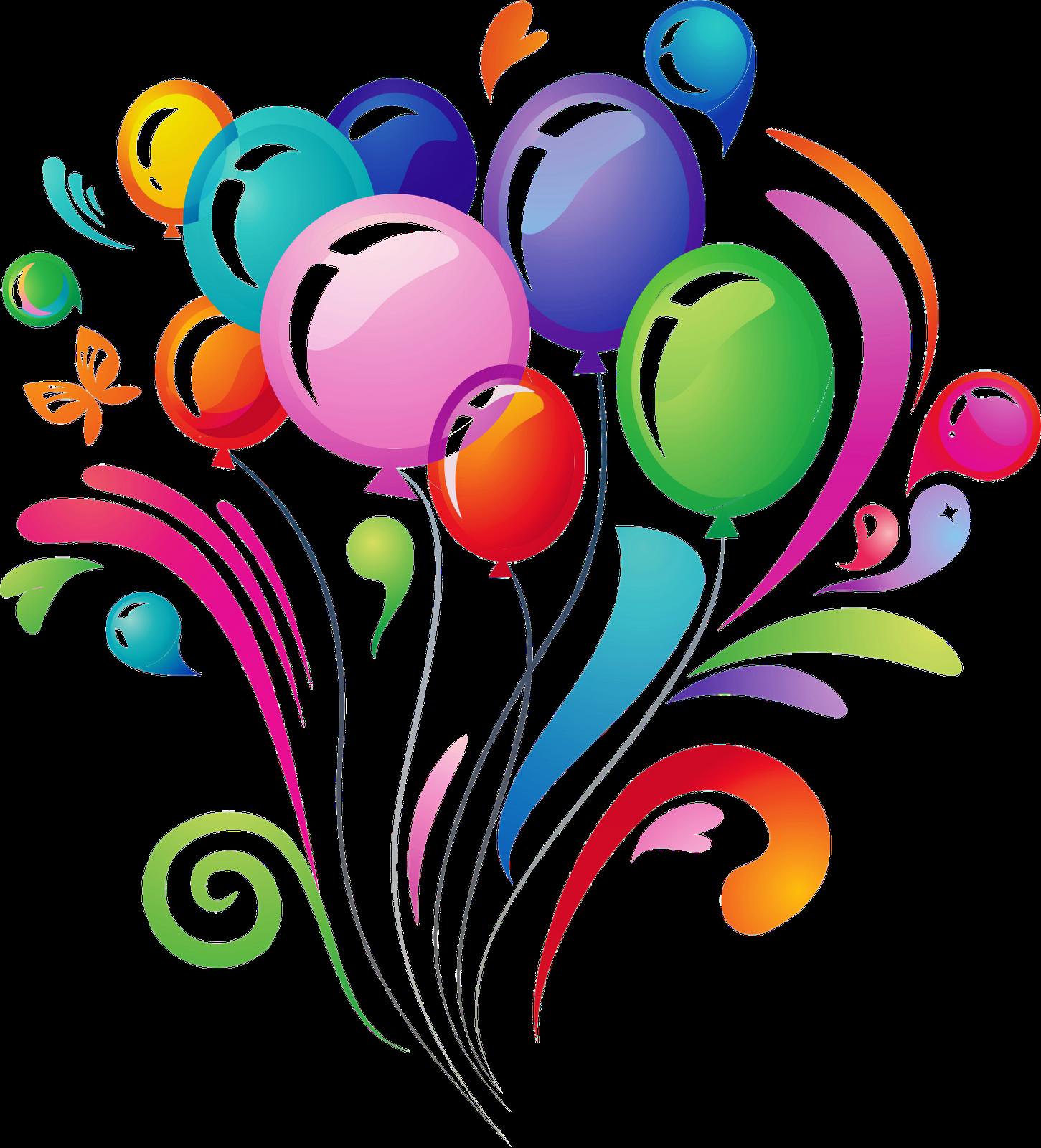 clipart transparent stock Vector balloon real. Transparent birthday balloons clipart