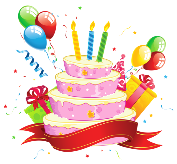 clipart royalty free Birthday Cake Transparent Clipart
