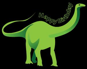 clipart library library Happy Birthday Dinosaur