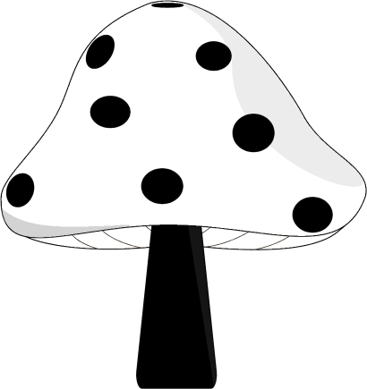image royalty free stock Mushroom clip art image. Clipart black and white