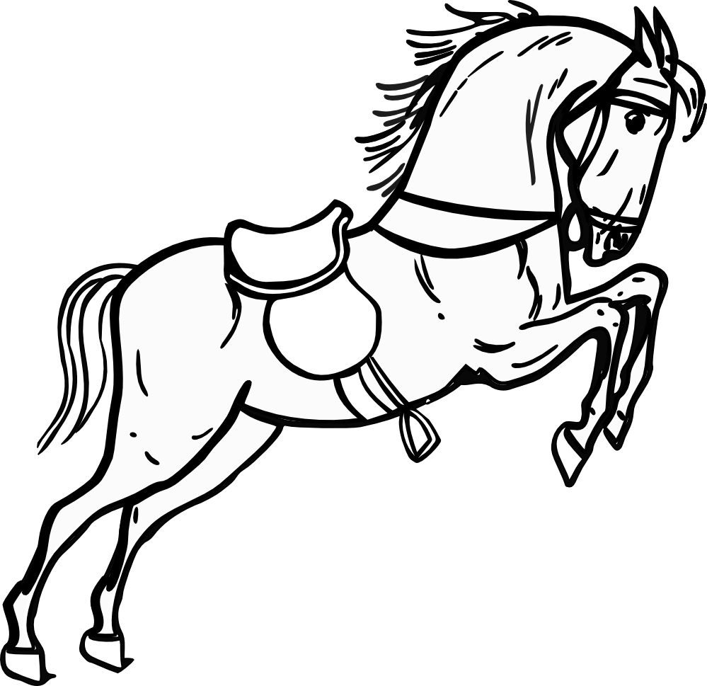 graphic black and white Horse Clipart Black And White
