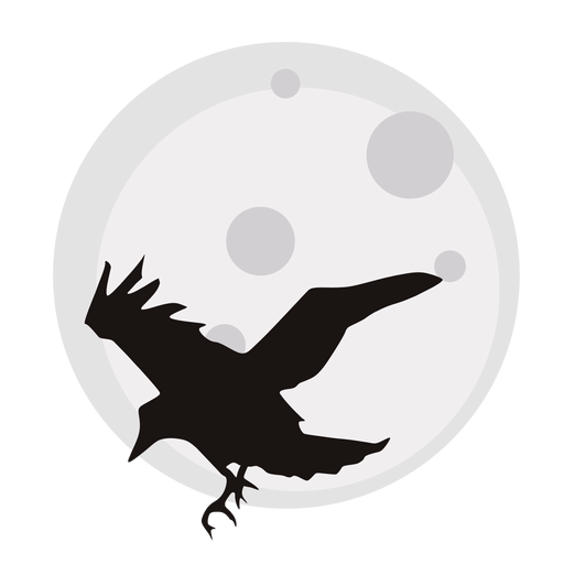 image royalty free download Clipart black and white moon. Crow spooky pencil in