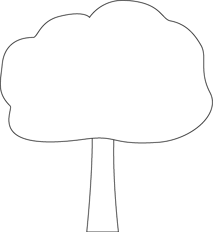 vector free Black and White Oak Tree Clip Art