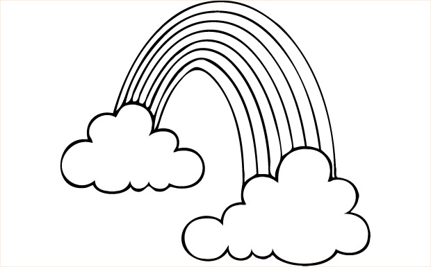 clip library library Clipart black and white rainbow. Cliparts