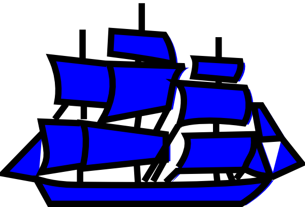 vector transparent library Yacht clipart small. Blue boat clip art
