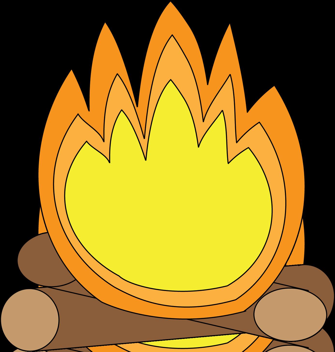 library Bonfire Cartoon