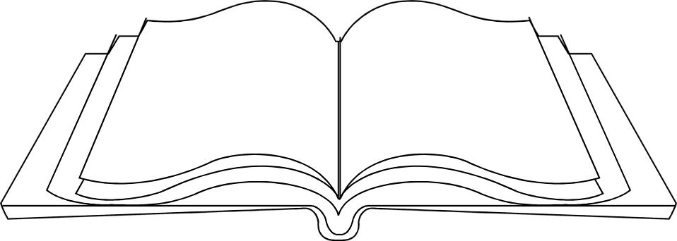 graphic free download Png black and white. Vector books open book