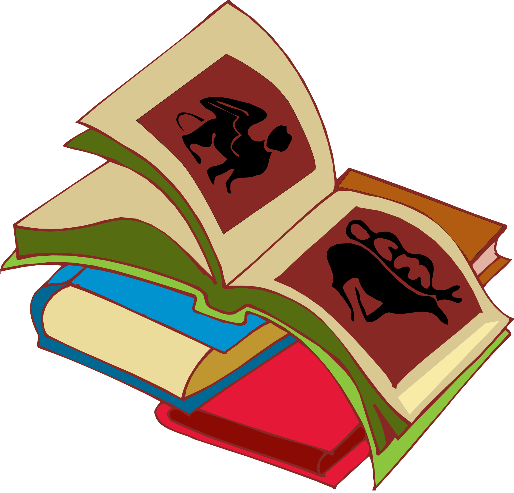 vector Free Stack Of Books Clipart
