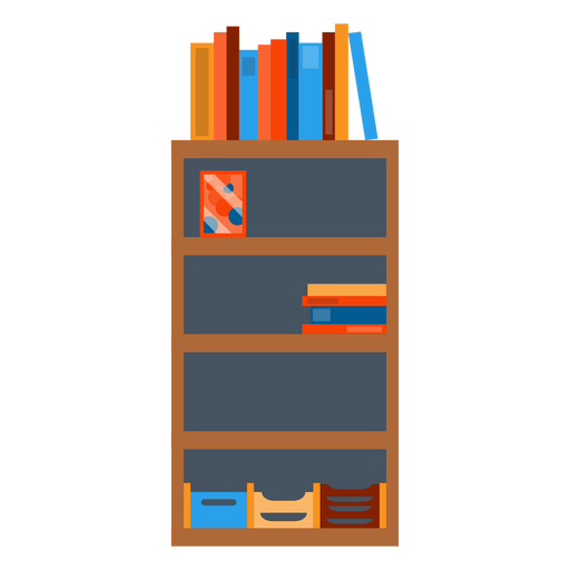 free With office papers clipart. Bookshelf vector
