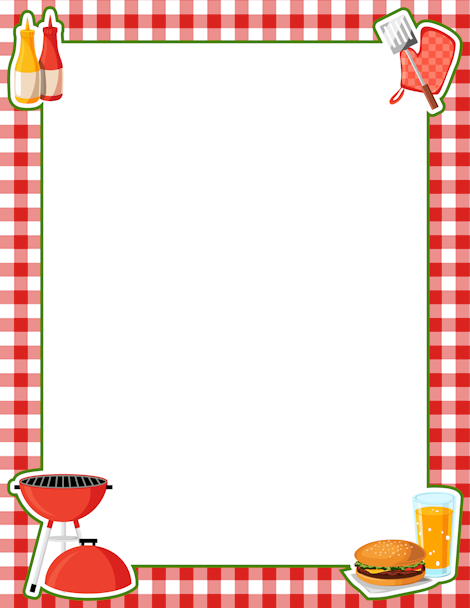 banner royalty free Border clipart kitchen. Printable bbq free gif.