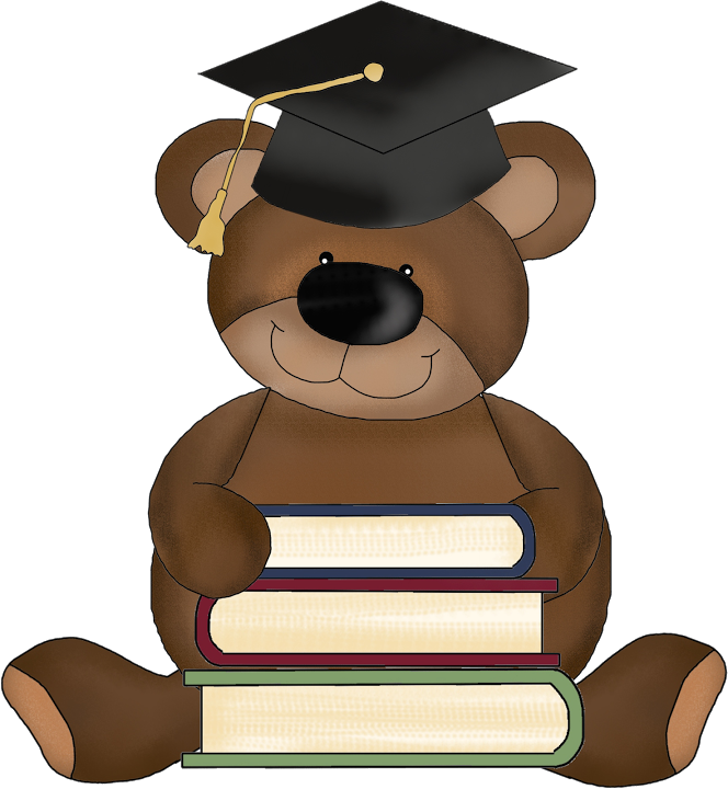 png royalty free library Graduation clipart drawing. Graduate teddy bear clip