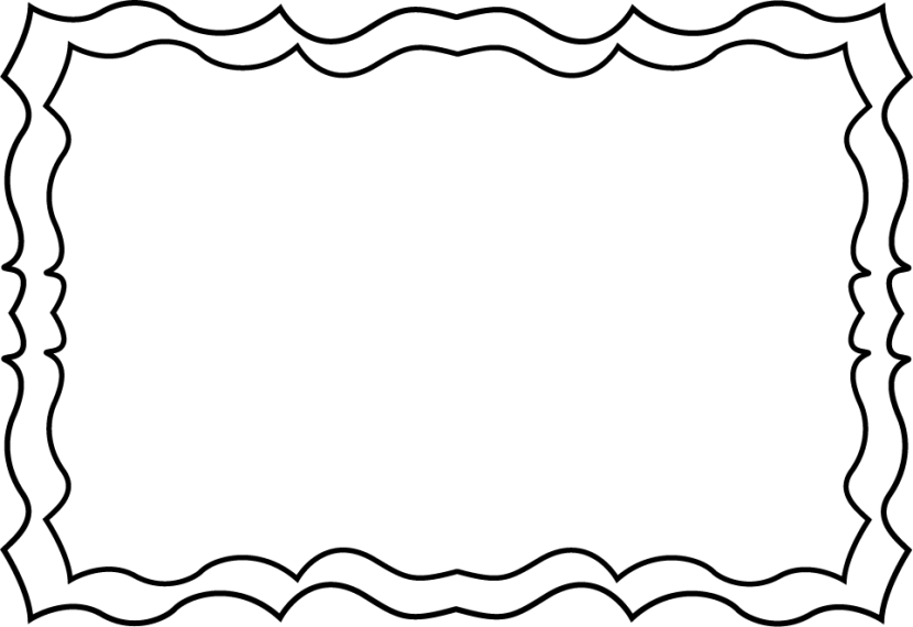 png royalty free library Border clipart black and white school squiggles