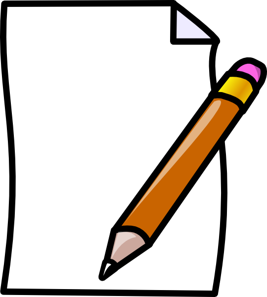 vector freeuse stock Writer clipart crumpled paper. And pencil borders design