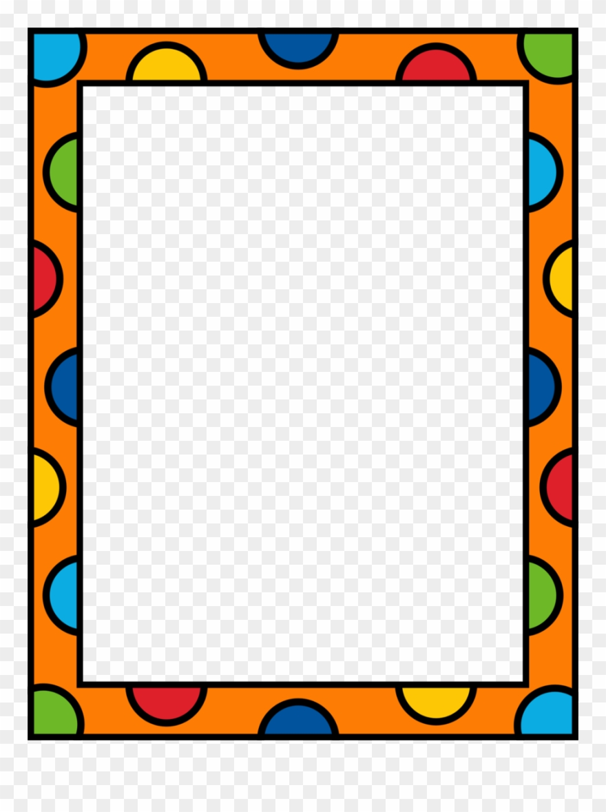 picture transparent Clipart borders. Kindergarten and frames pre
