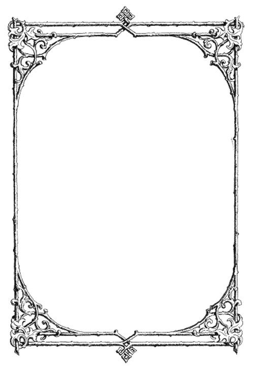 graphic black and white library Clipart borders vintage. Free clip art gorgeous