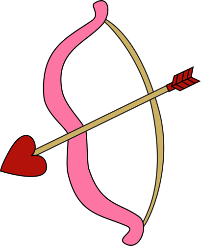 clip library Valentine s day outdoor. Clipart bow and arrow
