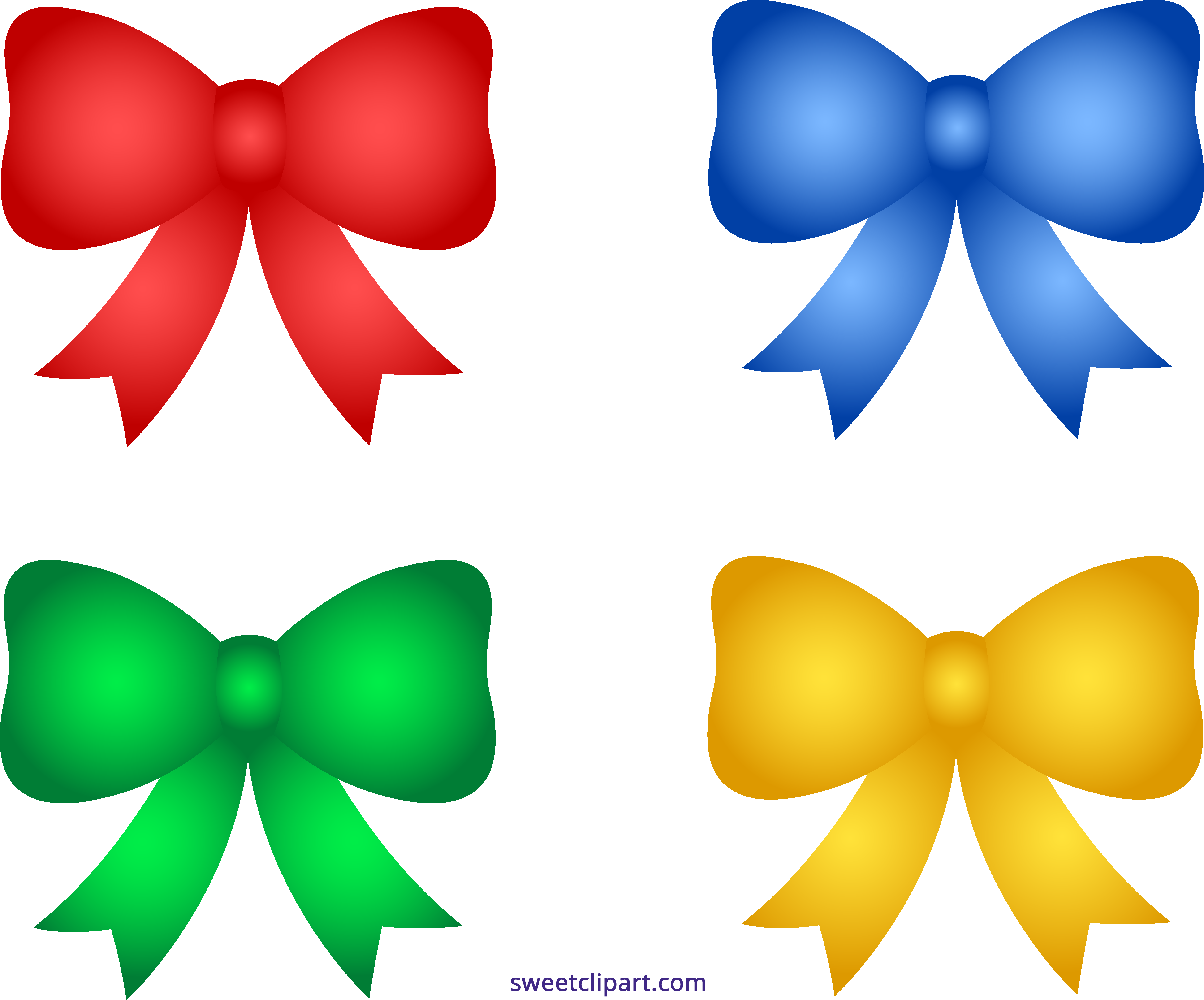 vector freeuse Bow clipart four. Cute shiny christmas bows