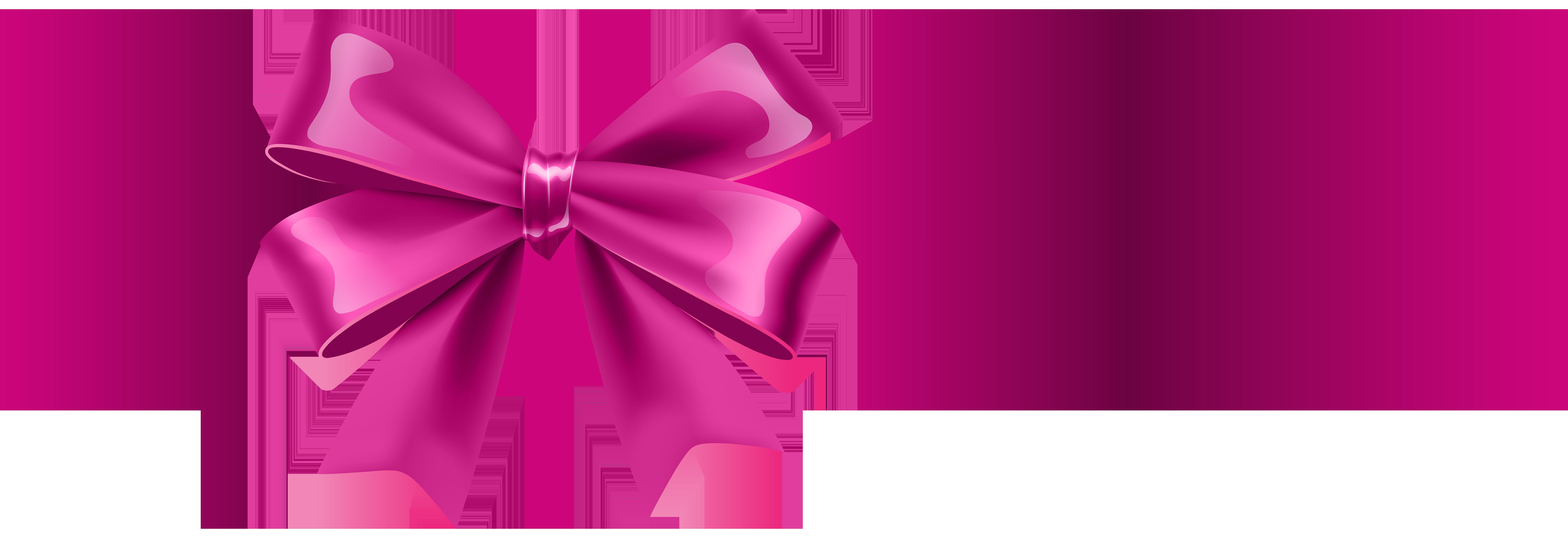 svg Pink Bow Transparent Clip Art
