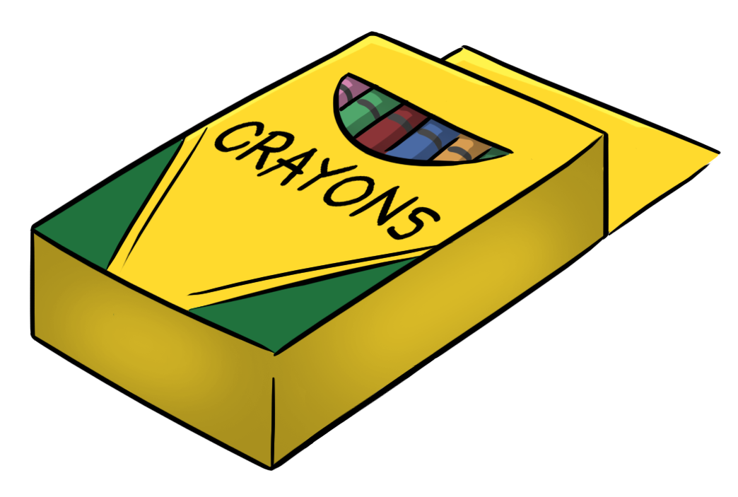 graphic royalty free download Crayon box free images. Crayons clipart.