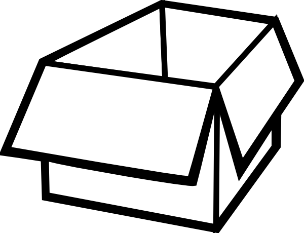 vector download Box Outline Clip Art at Clker