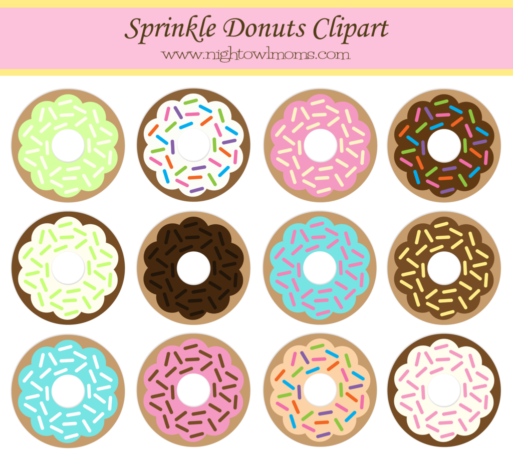 banner black and white download Free Sprinkle Donut Clipart