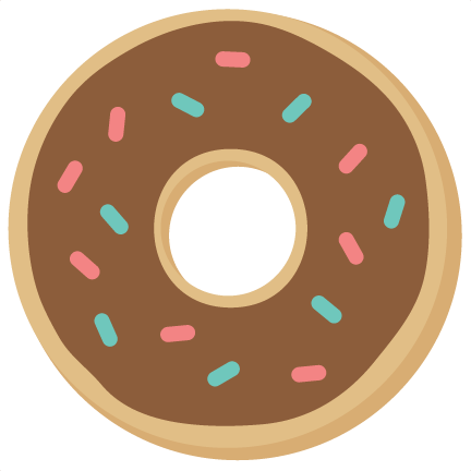 picture free download Svg cutting files for. Vector donut silhouette