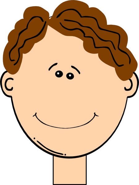 clipart freeuse library Happy boy clip art. Hair clipart brown