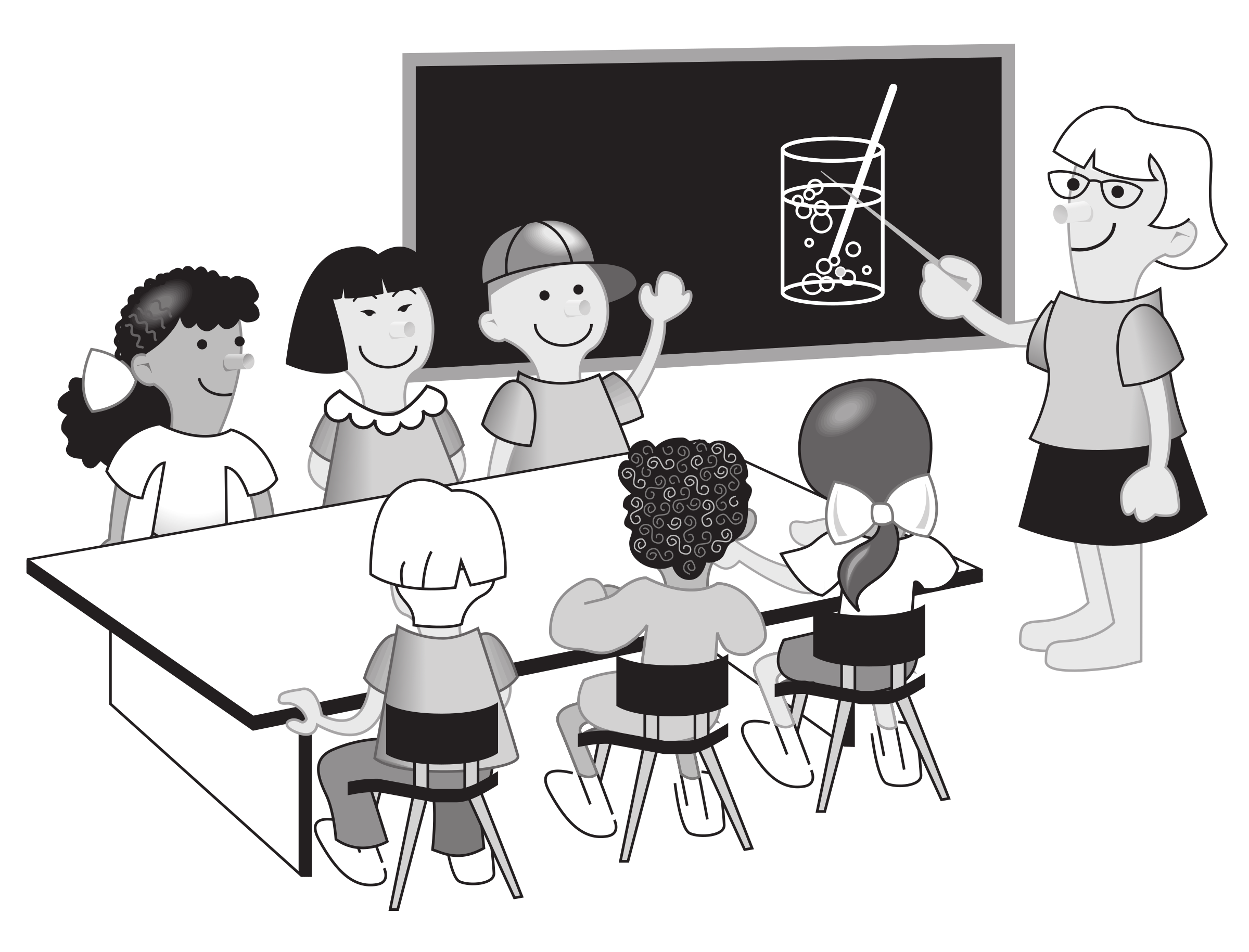 transparent library Kids in classroom big. Go clipart children