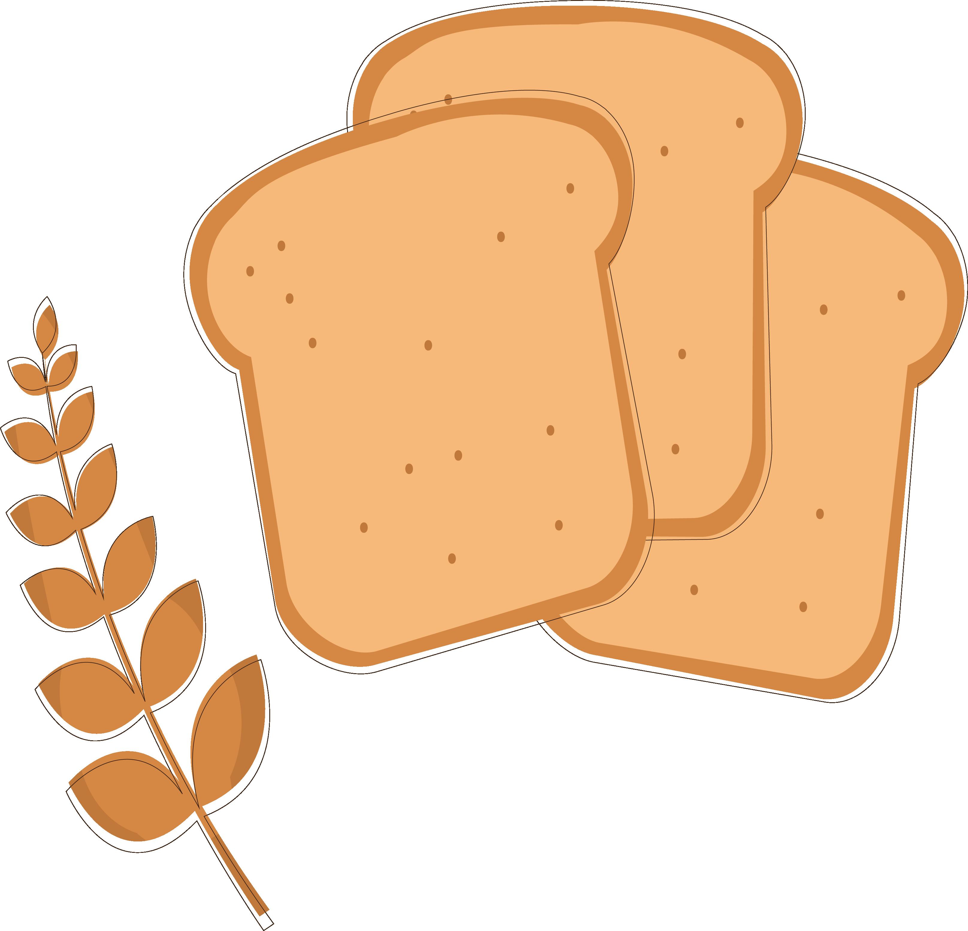 clip freeuse stock Wheat flour clipart. Toast bread clip art