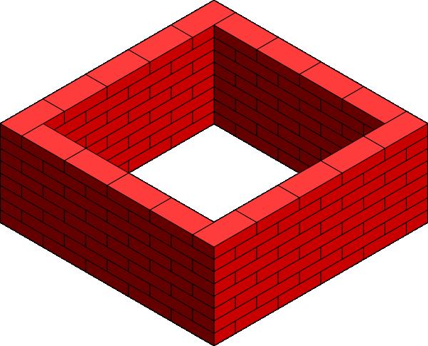 svg transparent download Clipart brick wall. Square clip art at