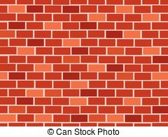 vector royalty free stock Red vector clip art. Clipart brick wall