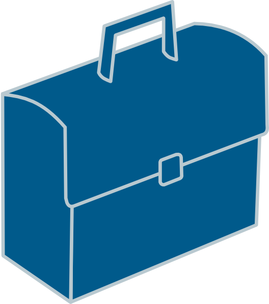 jpg royalty free download Blue Briefcase Clip Art at Clker